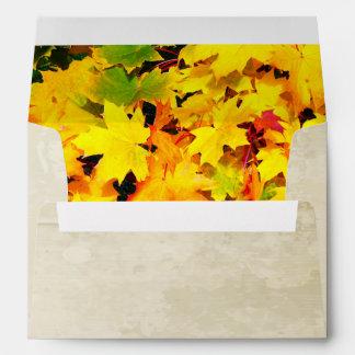Sobre feliz de la acción de gracias de las hojas