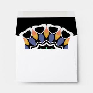 Sobre festivo de la tarjeta de nota de la mandala