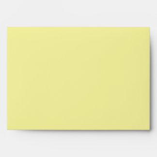 sobre floral botánico amarillo púrpura 5x7