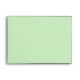 sobre floral botánico verde rosado 5x7