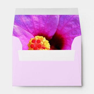 Sobre floral, rosado, estándar