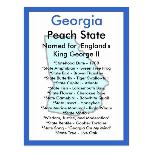 Sobre Georgia Tarjeta Postal