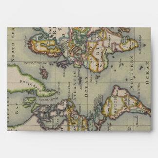 Sobre global viejo del mapa