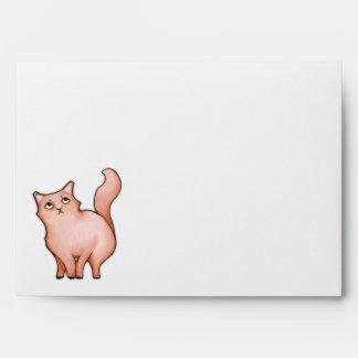 Sobre gruñón de la tarjeta de Sue A7 del gato