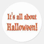 Sobre Halloween Etiqueta Redonda