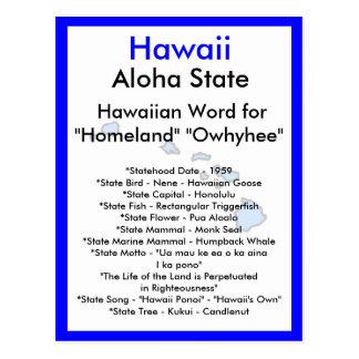 Sobre Hawaii Tarjeta Postal