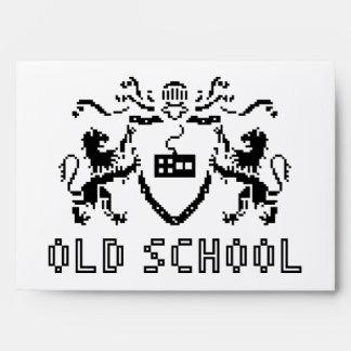 Sobre heráldico A7 de la escuela vieja del pixel