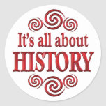 Sobre historia etiqueta redonda