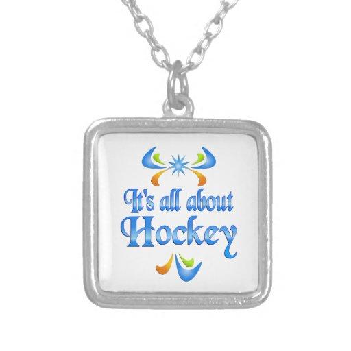 Sobre hockey colgante cuadrado