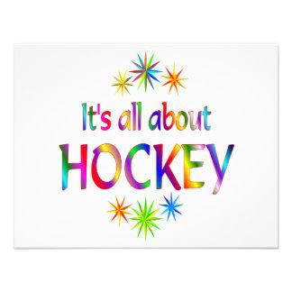 Sobre hockey comunicado personalizado