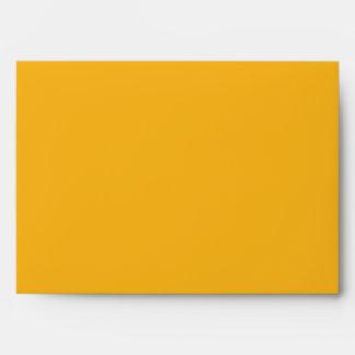 sobre interior del azul amarillo del exterior 5x7