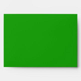 sobre interior del azul verde del exterior 5x7