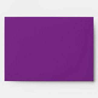 sobre interior del negro exterior púrpura 5x7