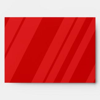 sobre interior del rojo rayado del exterior 5x7