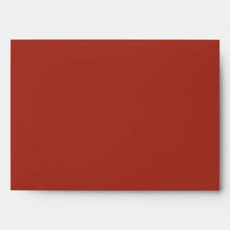 sobre interior rayado caída roja del exterior 5x7