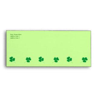Sobre irlandés del trébol del día de St Patrick