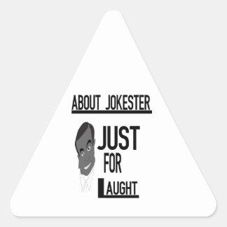 Sobre Jokester apenas para la risa Calcomanía De Triangulo Personalizadas
