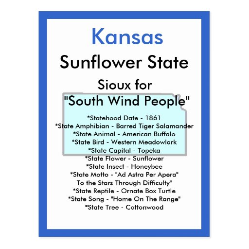 Sobre Kansas Tarjetas Postales
