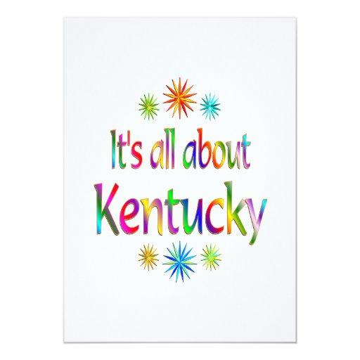 """Sobre Kentucky Invitación 5"""" X 7"""""""