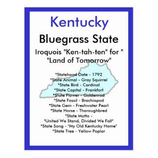 Sobre Kentucky Tarjeta Postal