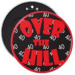 """Sobre la colina """"40"""" botón pins"""