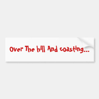 Sobre la colina y costear… pegatina de parachoque