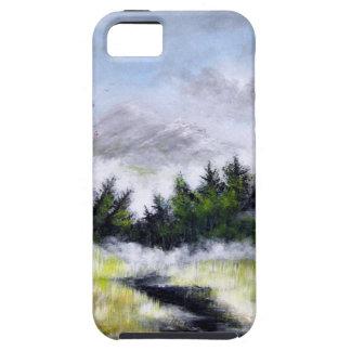 Sobre la colina y el Ove el diseño de las montañas iPhone 5 Cobertura