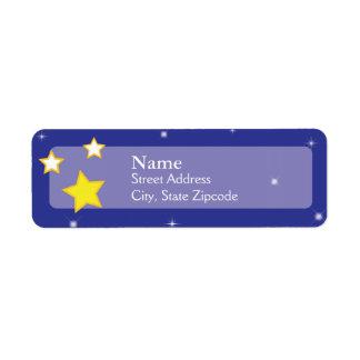 Sobre la etiqueta del remite de las estrellas el   etiqueta de remite
