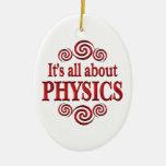 Sobre la física ornamento de navidad