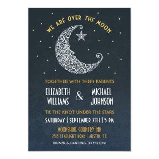 Sobre la invitación II del boda de la luna Invitación 12,7 X 17,8 Cm