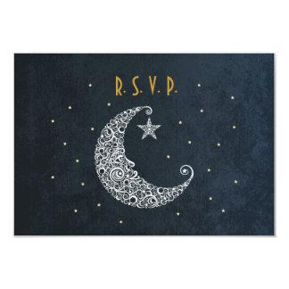 Sobre la luna que casa la tarjeta II de RSVP Invitación 8,9 X 12,7 Cm