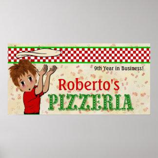 Sobre la muestra de la pizza de la puerta póster