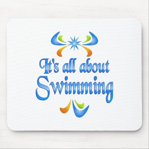 Sobre la natación tapete de ratones