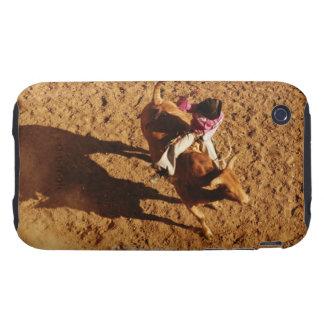 Sobre la opinión un vaquero que monta una Bull Tough iPhone 3 Cárcasa