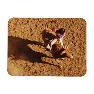 Sobre la opinión un vaquero que monta una Bull Imán