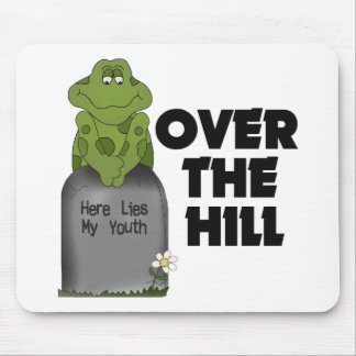 Sobre la piedra sepulcral de la colina alfombrilla de raton