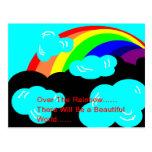 sobre la postal del arco iris