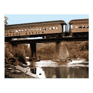 Sobre la postal del puente