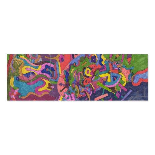 """""""Sobre la señal del arte abstracto de la tormenta"""" Tarjeta De Visita"""
