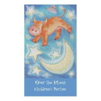 Sobre la tarjeta de visita de la luna flaca
