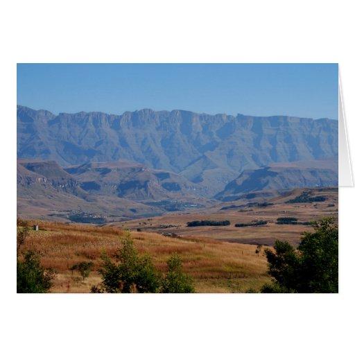 Sobre las colinas y en los valles tarjeta de felicitación