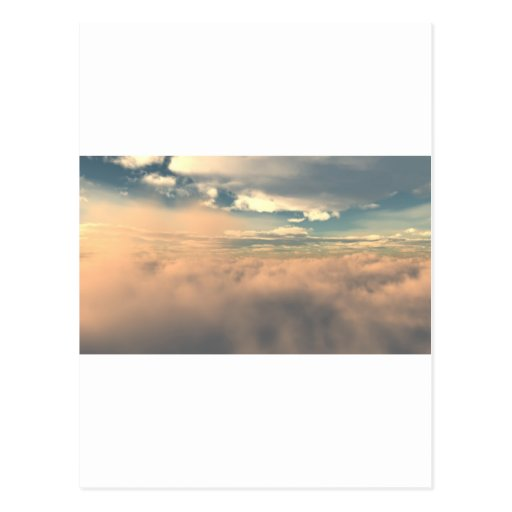 Sobre las nubes tarjeta postal