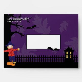 Sobre lindo de Halloween del espantapájaros