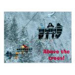 Sobre los árboles tarjetas postales
