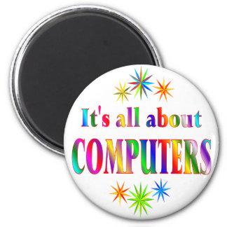 Sobre los ordenadores imán redondo 5 cm