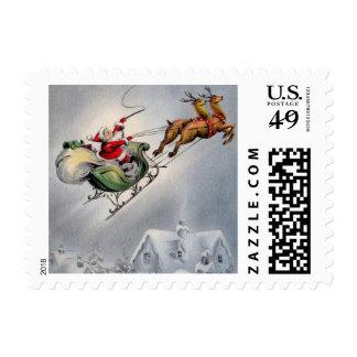 Sobre los tejados - navidad timbres postales