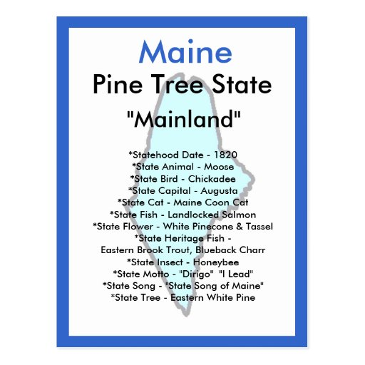 Sobre Maine Tarjeta Postal
