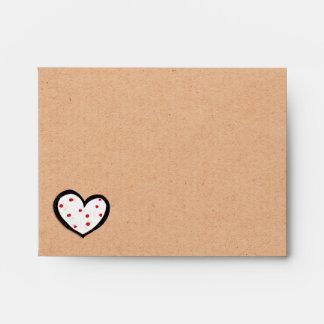 Sobre manchado de la tarjeta de nota de Kraft A2 d