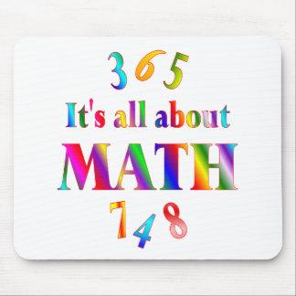 Sobre matemáticas tapetes de raton