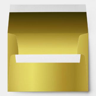 Sobre metálico elegante de la invitación del oro 5